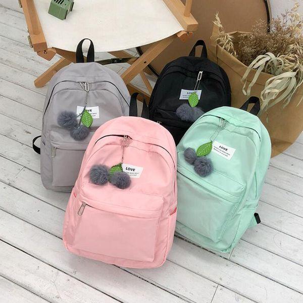 Hot sale fashion waterproof nylon backpack women leisure package junior high school student backpack letter