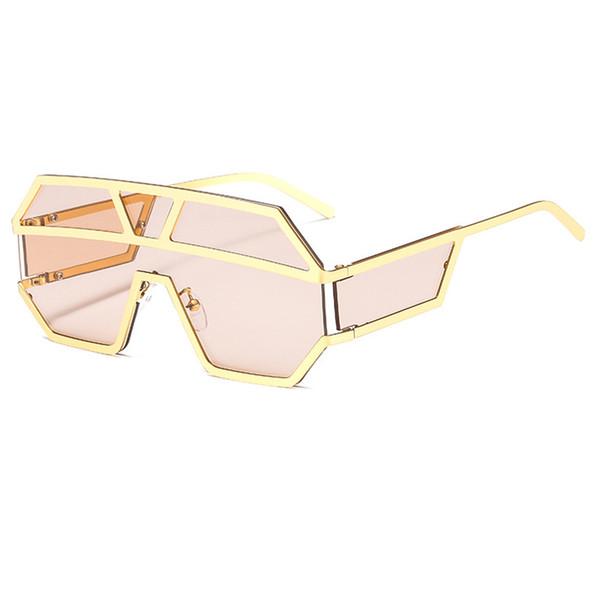 Aloz MICC Nuovo One Piece Lens Occhiali da sole donne oversize SQUARE Occhiali Da Sole 2019