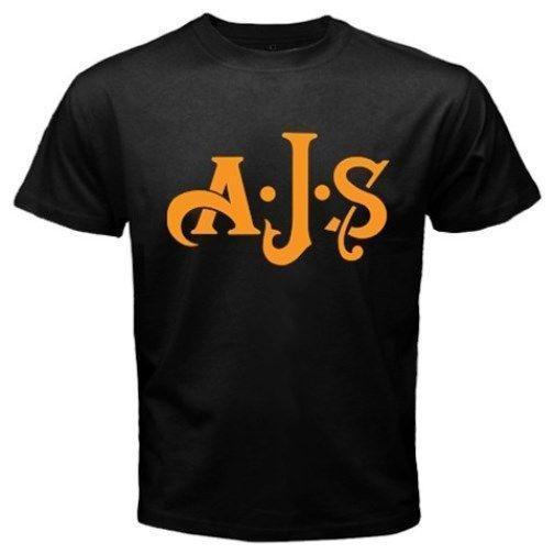 Nova AJS Inglaterra Motocicleta T-shirt de Impressão T-Shirt Harajuku Homens de Manga Curta Top Engraçado Roupas Casuais T-Shirts de Manga Curta Confortável