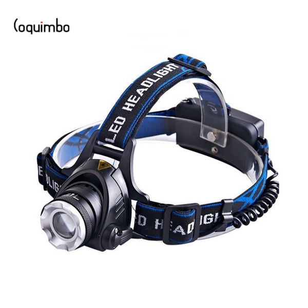 Coquimbo Waterproof 3 Modes T6 LED Headlight Zoomable Super Bright Headlamp Used 2 * 18650 Battery Head Light Lámpara Tactical Head