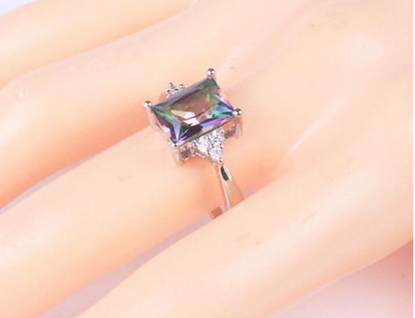 8faf938cc0cb El nuevo anillo de arco iris vibra con el mismo anillo de oro blanco de  circón