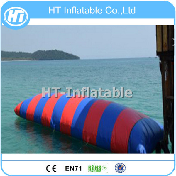 Free Shipping 7x3m Crazy Inflatable Blob Jump Water Toys/Trampoline/Big size Inflatable Water Toys Inflatable Water Catapult Blob Free Pump