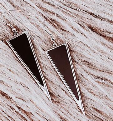 Серьги с Японии и Южной Кореи темперамент длинные бахрома преувеличены серьги треугольной триангуляции стиль простой большой ухо ногтей
