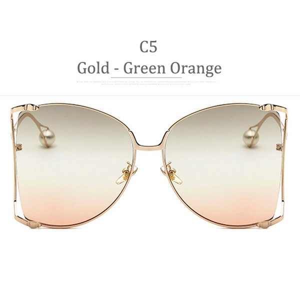 Lente C5 Gold Frame Green Orange