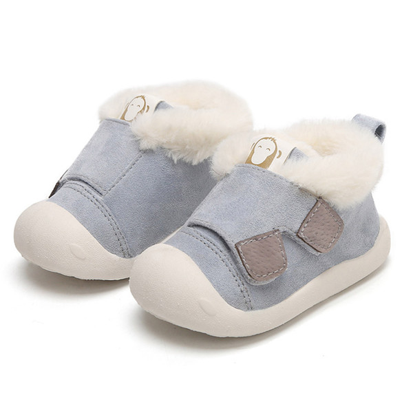 FORESTIME Cute Winter Warm Cotton Shoes for 0-3 Years Baby Toddler Anti Slip Fluffy Sneaker Shoes
