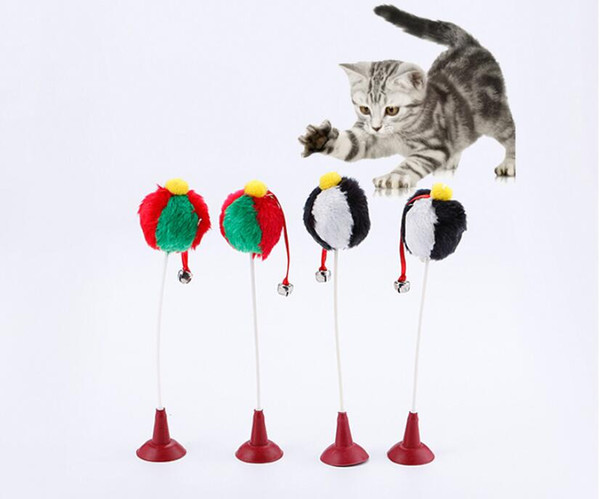 Pet Puppy Cat Dog Sucker Cat Teaser ball Toys Dog love it Toy for Pet Dog Cat Toys with small bell
