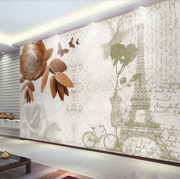 Modern Wall Murals Decoration Painting 3d Wallpaper Walls Hd Eiffel Tower Waterproof Wallpaper For Bathroom Home Decor Bollywood Actress Wallpapers