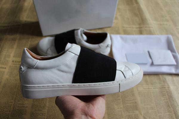 Diseñador de moda serpientes zapatos de lona con cuero de calidad superior hombres mujeres PARIS zapatos casuales con sash zapatos de diseñador de banda