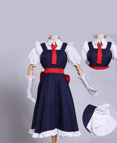 Tohru Cosplay Vêtements Perruque Ensembles Nouvelle Mode Filles Anime Robe Mlle Kobayashi's Dragon Maid Kanna Cosplay Costume Pour Femmes