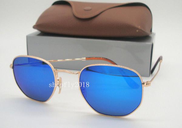 Gold Blue Mirror