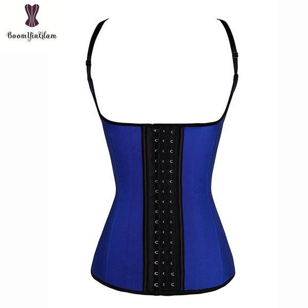 Latex Vest Corset Waist Trainer Plus Size 6XL Steel Boned Korse Front Hooks & Eyes Closure Korset Babaka Waist Slimming Korset