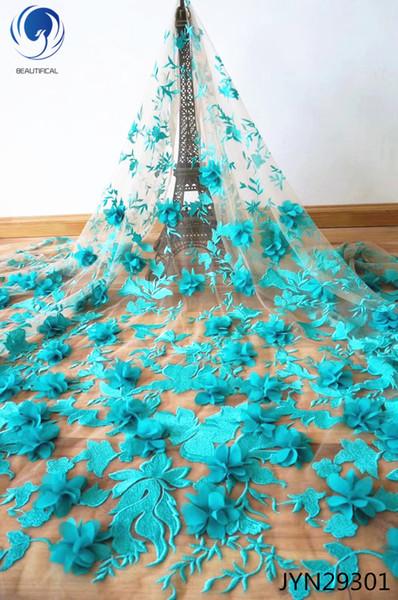 Ultimo tessuto africano del merletto del francese africano tessuto africano del merletto di alta qualità 3D per il vestito da cerimonia nuziale Moda JYN293