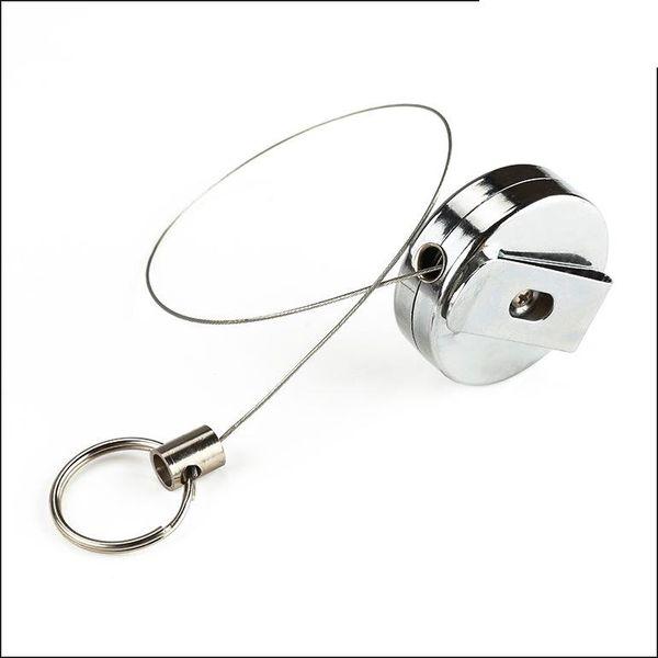 Hochleistungs-Metalllegierungsmaterial 40 mm / 50 mm Hochleistungs-Abzeichenrolle mit ausziehbarem Schlüsselring für den Außenbereich