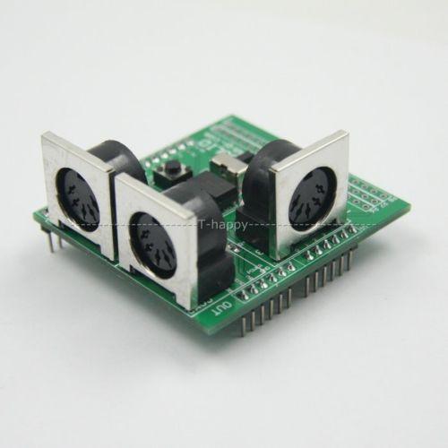 Freeshipping MIDI Shield Breakout Board for uno R3 compatible AVI PIC Digital Interface