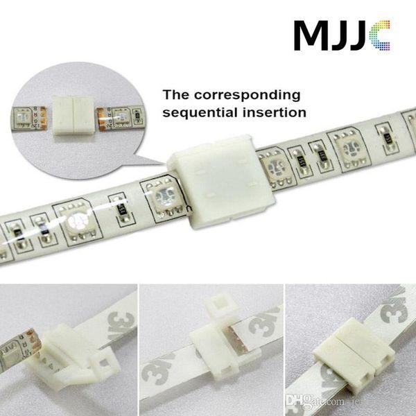 100 adet 8 MM 2PIN 10mm 4PIN PCB Lehimsiz Konnektörler Adaptörü SMD 5050 3528 RGB Tek Renk LED Şerit Işık