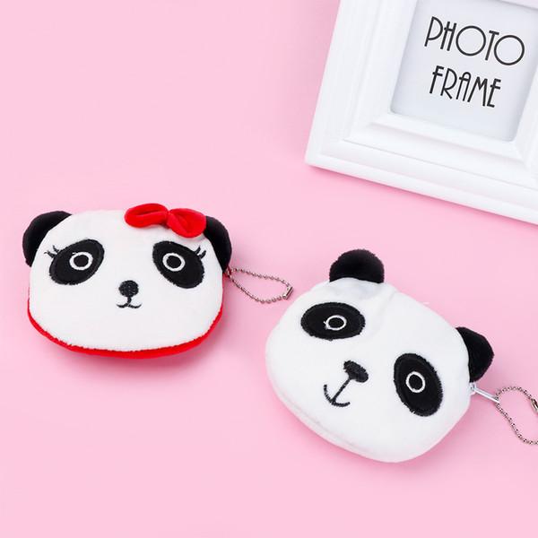 1Pcs NEW Cute Panda Shape Plush Coin Purse Unisex Wallets Zipper Pocket Coin Bags Change Pouch for Children Kids Gift
