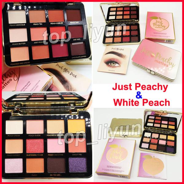 2018 makeup faced ju t peachy eye hadow white peach eye hadow palette 12 color weet peach himmer eye hadow glitter palette