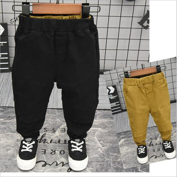 Nouveau Mode Enfants Garçons Pantalons Pantalons Casual Coton Élastique Taille Crayon Pantalon Pour Garçons Enfants Vêtements 2-7 Ans