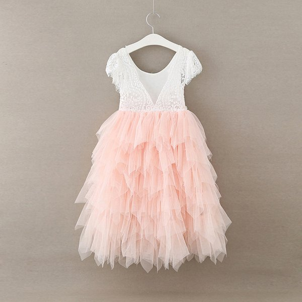 052dae218b5dd 2019 Retail ! NEW 2018 Girls Lace Princess TUTU Dress Kids Eyelash Dresses  For Girls Cute Lovely Dresses , Toddler Girl Clothings Pink From ...