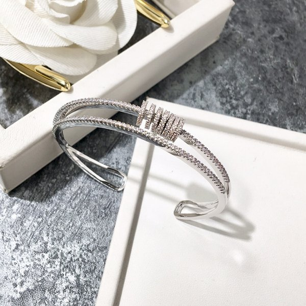 Высокого класса модный бренд дамы браслет ювелирных изделий роскошный роскошный браслет покрытием 18K розовое золото открыть браслет