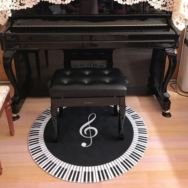 120CM Retro Piano Key Round Carpets For Living Room Home Area Rugs For  Bedoom Cartoon Carpet Kids Room Computer Chair Floor Mat Designer Carpet  Tiles ...