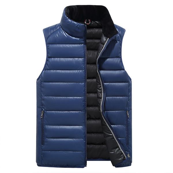 Populäre Mens-Jacke Sleeveless veste homme Winter-Art- und Weiselasualmäntel männliche mit Kapuze Baumwolle-gepolsterte Weste der Männer unten Jakets 4XL rot