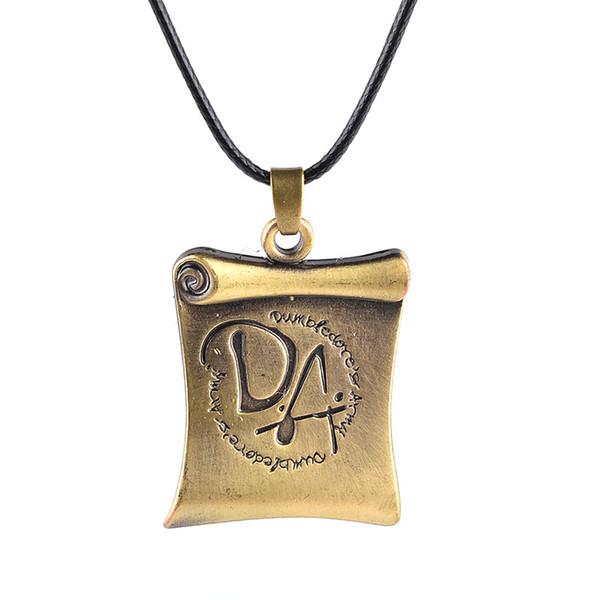 Boosbiy Factory Direct Selling Necklace Harry Pot DA Book Reel Bronze Necklace European Hot Sale BHA025