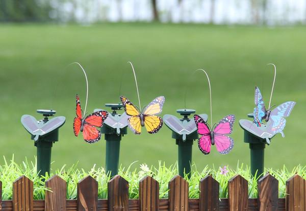 Solar Power Dancing Flying Butterflies Vibrazioni Fly Hummingbird Flying Birds Giardino Decorazione Giocattoli divertenti