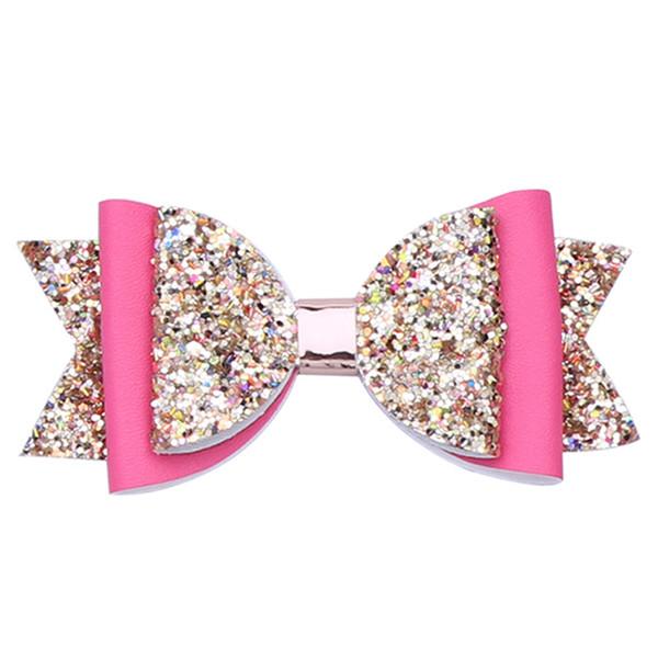 Doppio strato Glitter Capelli Archetti Clip Bowknot Forcine Princess Hairgrips Barrettes Copricapo Regalo personalizzato