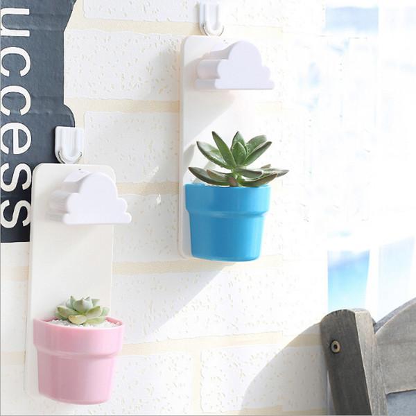 Rainy Pot Wand-hängende Pflanze Blumentopf Vase Yard Home Decoration Decor neue kleine kreative gestaltete zufällige Farbe Wolke