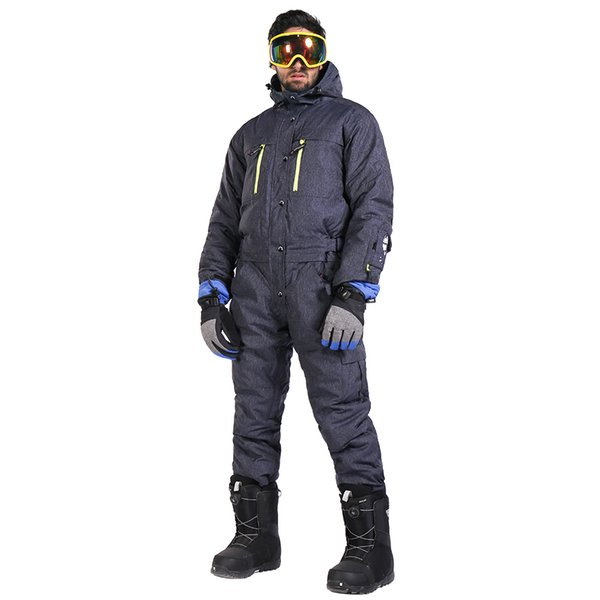 Saenshing One Piece Snowboard Suit Men High-Q Ski Jacket For Men Winter Snow Waterproof Outdoor Ski Set Mountain Skiing jumpsuit