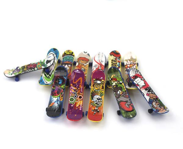 Палец Скейтборды FingerBoard Мини Скейтборды Палубы Разнообразие Pattern Игрушки Мода Для Подростков Дети Дети Пластиковый Подарок Оптовая