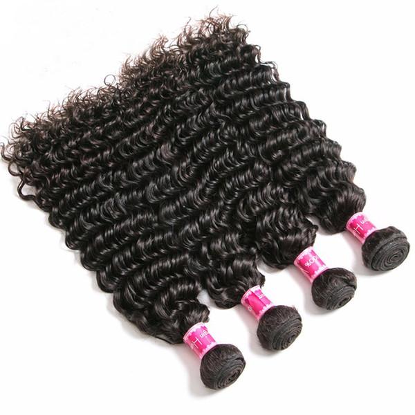 ZhiFan Brazilian Hair 10-30inch Afro Deep Curly Wave Bulk Human Hair Machine Wefts For Black Women Braiding