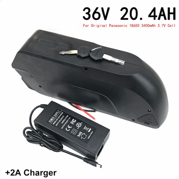 36V20.4Ah electric bicycle lithium battery using the original 18650 3400 battery, for 500W 850W motor,