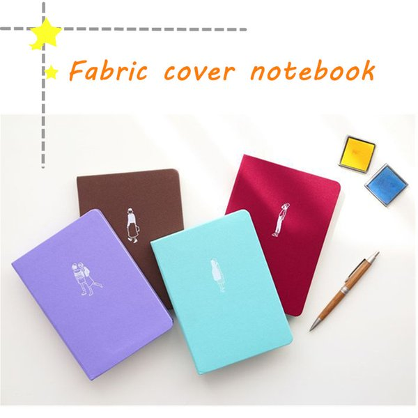 2018 HOT Fabric Cover Notebook Paper School and Office Supplies Customizable Diary Book Scrapbook Notepads A5 96 Sheets