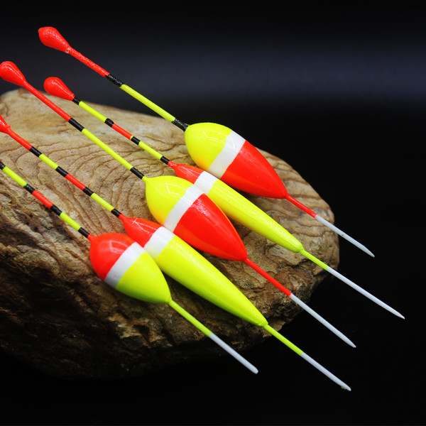 5pcs/lot Ice Fishing Float Mix Size 1g/2g/3g Portable Water & Ice Floating Bobbers Wooden Float For Fishing Accessories Tackle