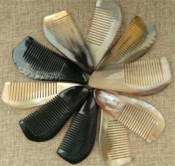 300pcs Useful OX Horn Combs Pocket Tool Straight Hair Comb Natural Health Massage Brush Portable Handmade Craft Gift X097
