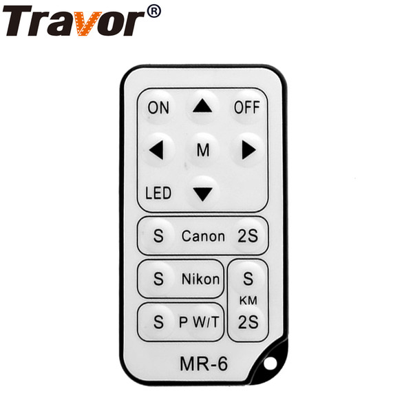 TRAVOR MR-6 IR Universsal Wireless Remote Control For most of Canon Nikon Pentax Cameras and Travor led video light kit