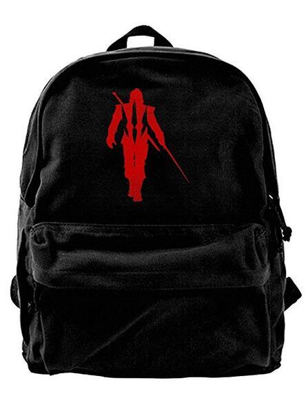 The Witcher Wild Hunt Canvas Shoulder Backpack Best Graphic Backpack For Men & Women Teens College Travel Daypack Black