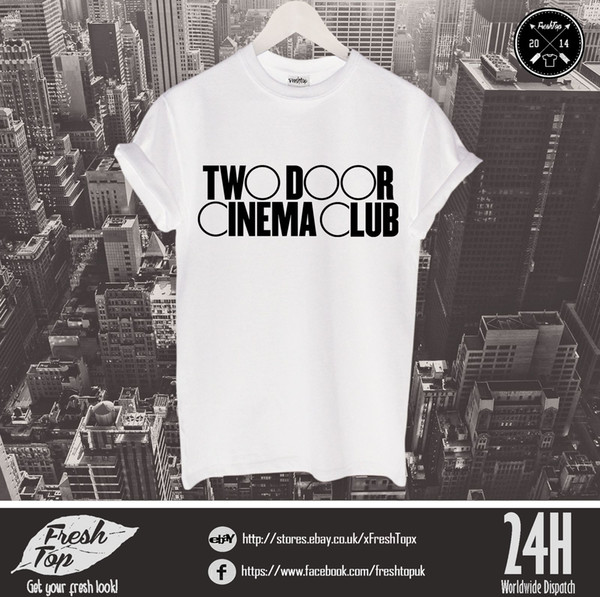 Zwei Tür Kino Club T Shirt Nordirische Rock Indie Die Kooks Passion Pit Funny kostenloser Versand Unisex Casual Geschenk