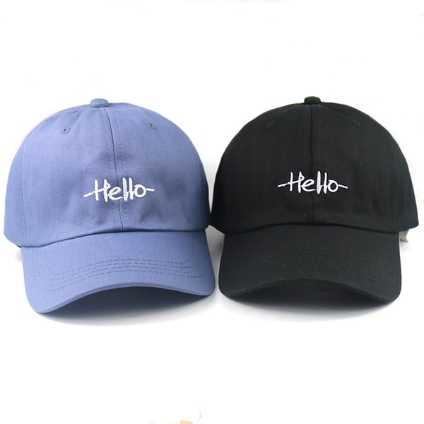 5e9dc980cd6fcb 2018 new hello dad hat embroidery adjustable cotton baseball cap women sun hat  men sports hats