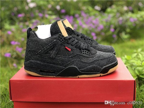 e0f3dd9ac0c1 Release OG 4 Denim 4s Black White Jean Joint Limited For Man Basketball  Shoes Sneakers Authentic