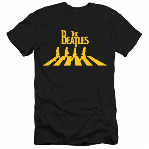 Diseñador Camiseta de verano The Beatles Impreso Camiseta para hombre Nueva moda Tide Camiseta para hombre de manga corta con estilo Casual Tops de algodón