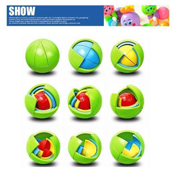 Wisdom Ball 3D Intelligence Magaic Ball Game Puzzle Ball Educational Toys for Kids IQ Training blocks toy smart maze DIY gift DHL 006
