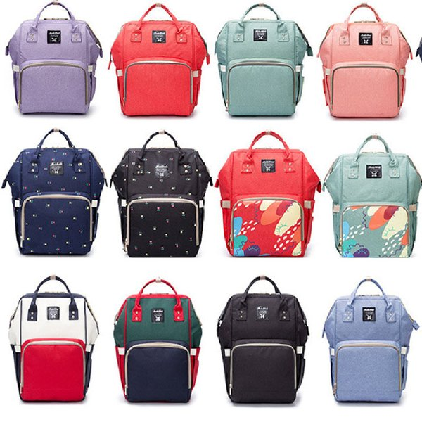 Mommy Backpack Bag Nappies Bags New Mother Maternity Backpacks Outdoor Desinger Nursing Travel Bags Organizer 19Colors XHH7-1241