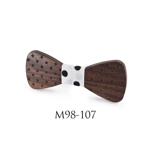 Children Solid Wood Bowknot Star Bow Tie Environmental Friendly Elastic Adjustable Accessories Baby Elegant Ties Hot Sale 16hx ff