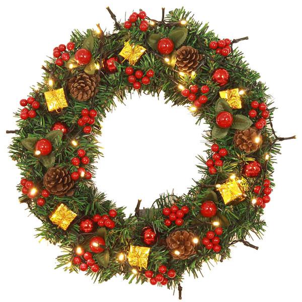 Christmas Stuff.40cm Special Design Christmas Hanging Balls Wreath Door Wall Ornament Bowknot Garland Decoration Office Home Art Decoration Christmas Stuff Christmas