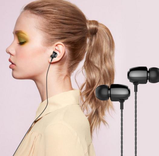 Nueva canción T1 K sintonizar el control de alambre de metal de moda de movimiento de reducción de ruido auricular con cable de alta fidelidad