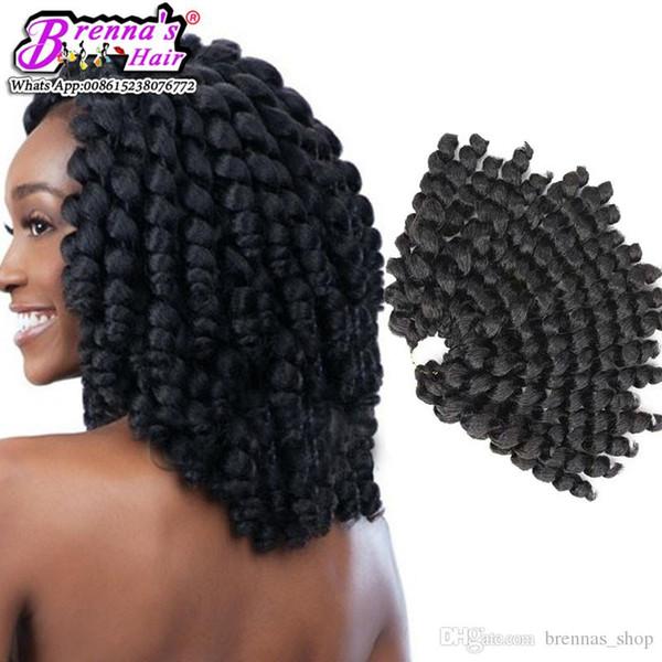 Goddess Crochet Braids Synthetic Hair Extension Wand Curl 8 Inch 75g/pack 12 Colors Burgundy Crochet Twist havana bohemian braid Hair Pieces