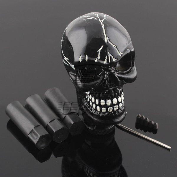 best selling Skull Head Universal Car Truck Manual Stick Gear Shift Knob Lever Shifter Black
